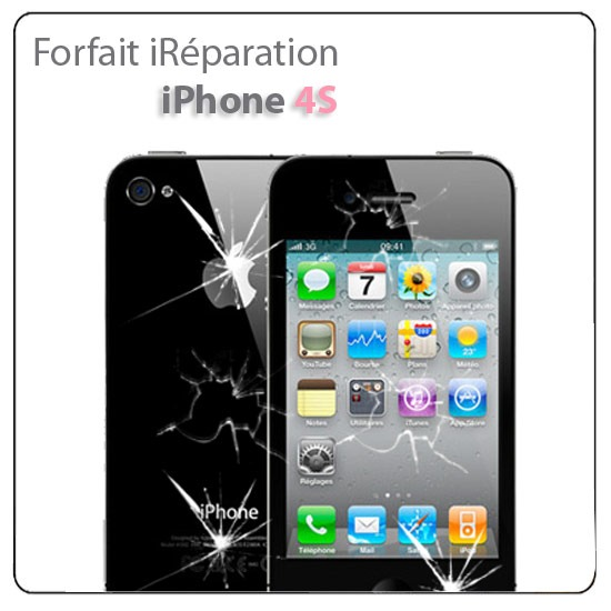 reparation vitre avant vitre arriere iphone 4s ain point phone. Black Bedroom Furniture Sets. Home Design Ideas